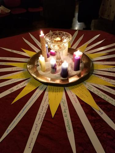 Imbolc 2019 sun altar